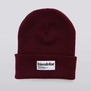 Image of Burgundy Patch Beanie