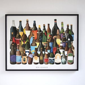 Beer Hoarder - Limited Edition Craft Beer Print by Alyson Thomas of Drywell Art. Available at shop.drywellart.com