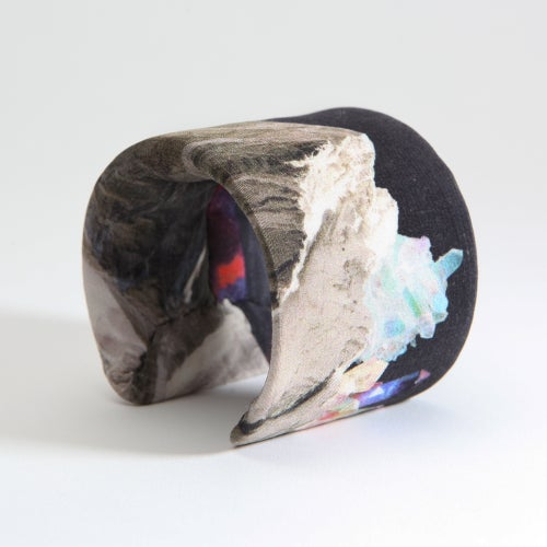 Image of LARGE PRINTED SILK CUFF / ECLIPSE MOUNTAINS