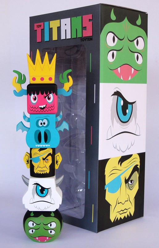 Image of Toy Titans Toytem  **Toy and box SIGNED**