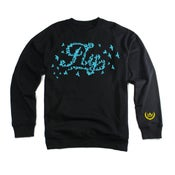 Image of Gamma Blue Fly Fleece Raglan Crew
