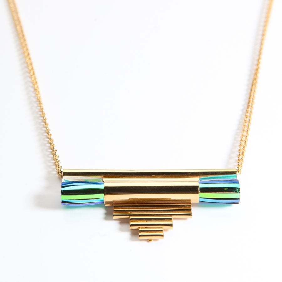 "Image of ""TUBES ORGUES FRINGES"" LONG NECKLACE"