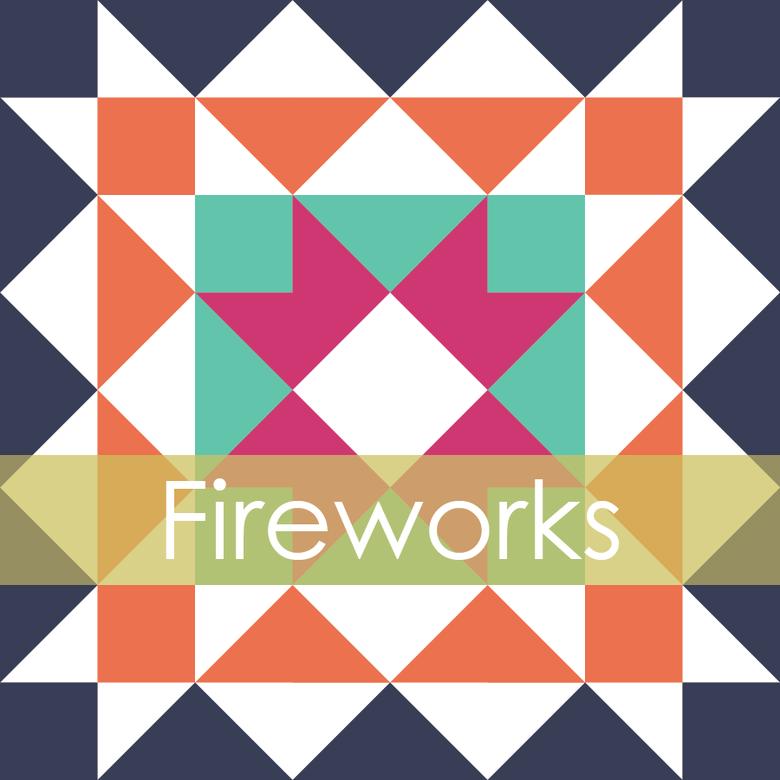 Image of Fireworks Mini Quilt #105, PDF Pattern