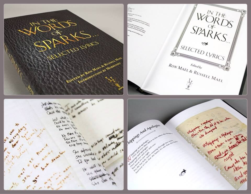 Image of In the Words of Sparks...Selected Lyrics [Hardcover]
