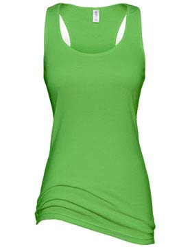 Hitnt Women S Racer Back Tank Top Lime Green Black