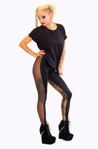 Image of ONIA Leggings in Limited Edition GOLD CROCODILE Print