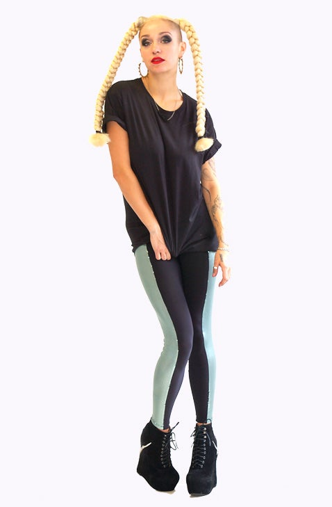 Image of ONEIKA Leggings in Limited Edition Powder GREEN SEQUIN