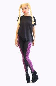 Image of ONEIKA Leggings in Limited Edition PURPLE LEOPARD Print