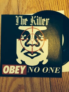 """Image of THE KILLER Obey No One 7"""" TEST PRESS"""