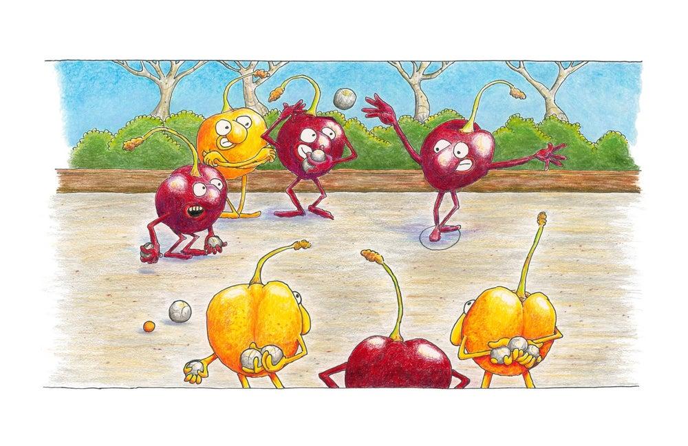 """Image of """"Zee Boules of Cherries... eez Like Life, Oui?"""""""