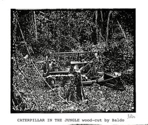 Image of CATERPILLAR IN THE JUNGLE