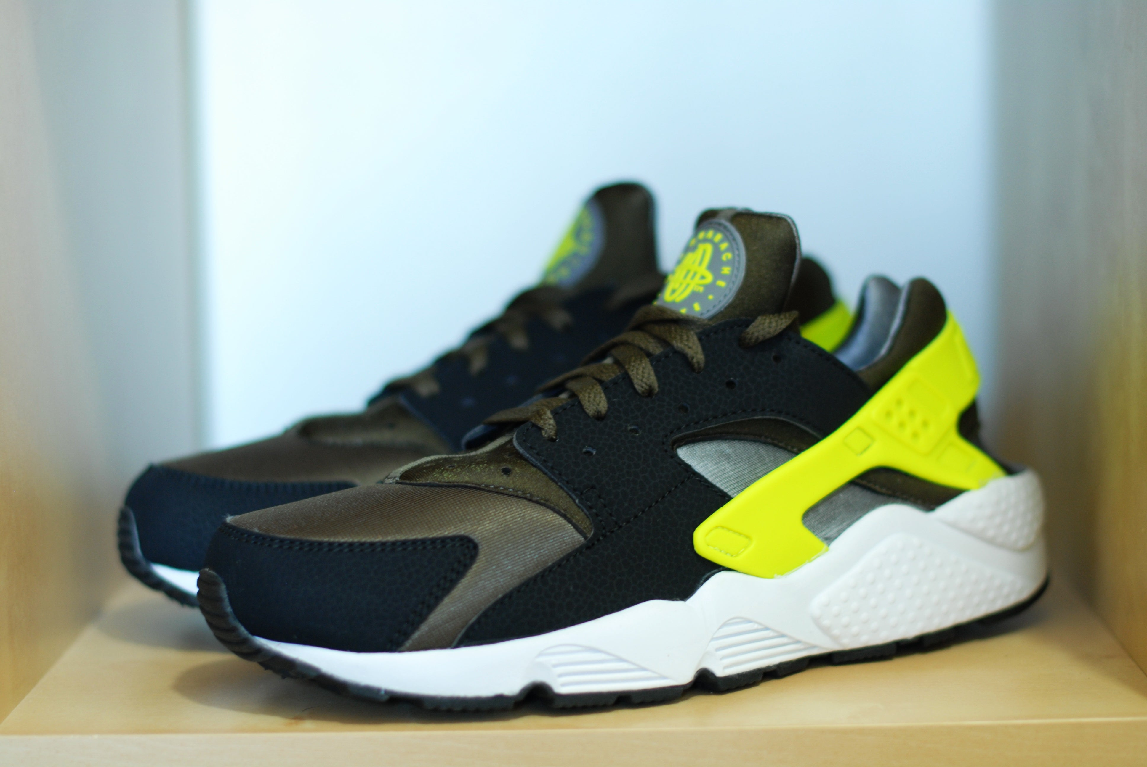 fd9048448d24 Nike Huarache Green And Yellow Blue Black Nike Shoes With Mexico ...