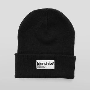 Image of Black Patch Beanie