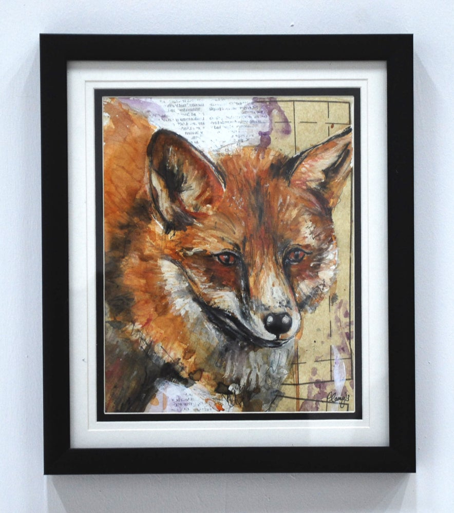 Image of Red Fox Framed Original by Pauline Carney