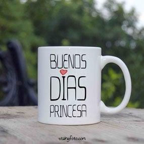 Image of Taza, lámina, imán o chapa Buenos Días Princesa