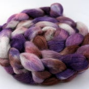 Image of Sugar Plum - Mixed BFL/Silk Wool Top/Roving