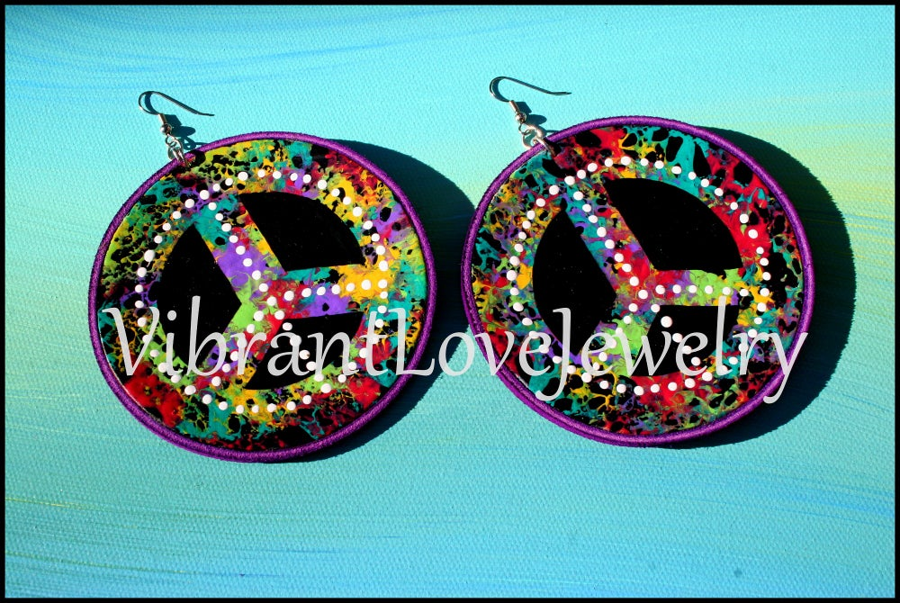"""Image of """"Solid Peace"""" Earrings"""