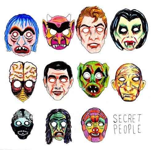 "Image of Secret People 7"" - black vinyl"