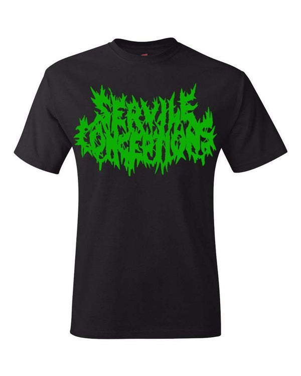 Image of Servile Conceptions Shirt Blk w/Green Logo