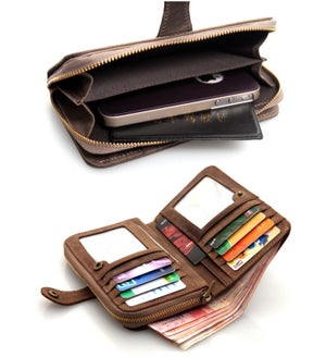 Image of Vintage Handmade Antique Leather Wallet / iPhone 4 4s iPhone 5 5c 5s Wallet (w3-2)