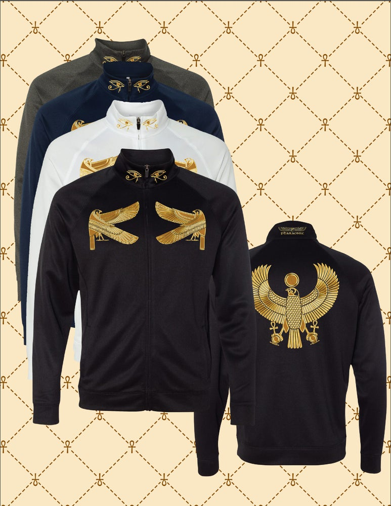Image of MENS PERFORMANCE GOLD FOIL SUPER HERU TRACK JACKET