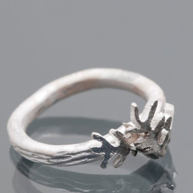 Image of Botanical Fern Sterling Silver Ring