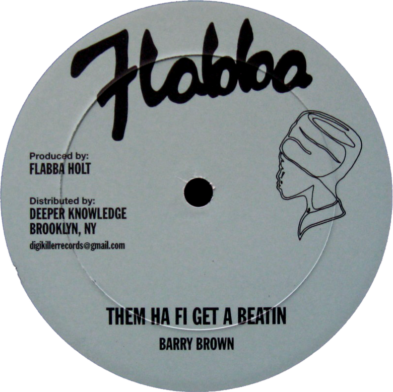 "Image of Barry Brown / Roots Radics Band - Them Ha Fi Get a Beatin / Stop the Fighting 12"" (Flabba)"