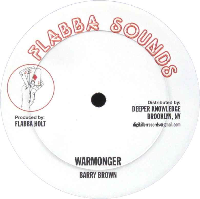 "Image of Barry Brown / Roots Radics Band - War Monger / Radical Style 12"" (Flabba)"