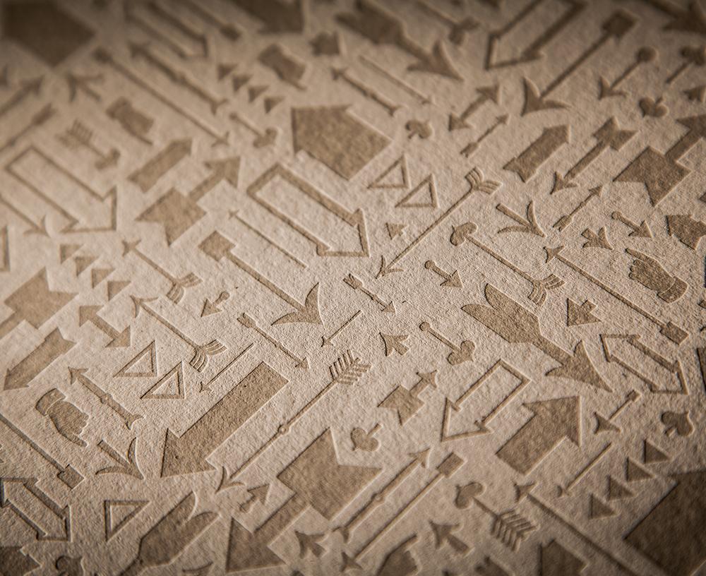 Image of Arrows Letterpress Print