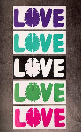 "Image of Love Your Brain Appliqué 6"" Sticker"