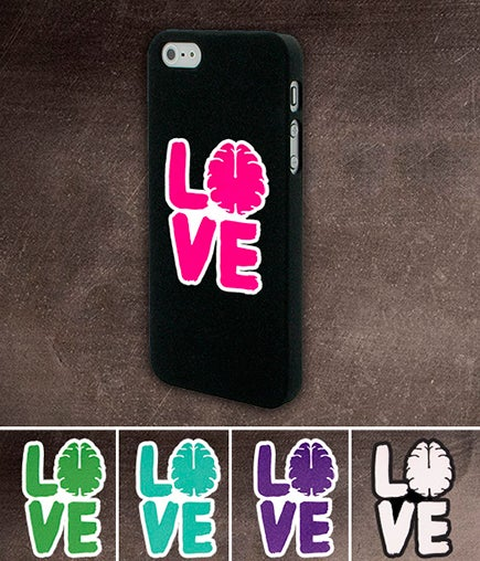 Image of Love Your Brain Stacked Die Cut Sticker with Border