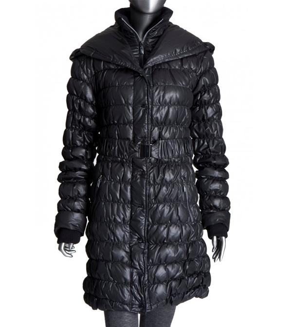 Image of Ilse Jacobsen Black Down/Feather Puffa Coat