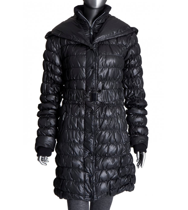Image of Ilse Jacobsen Black Down/Feather Puffa Coat