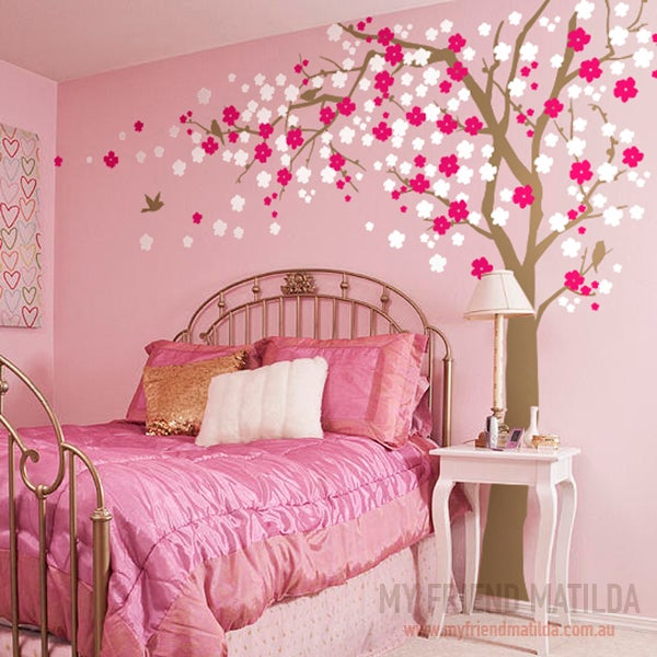 cherry blossom tree wall decal for home and nursery cherry blossom branches wall stickers wallstickerdeal com