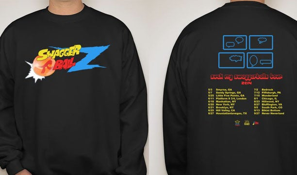 Image of Suck My Swaggerballs Tour 2014 sweatshirt