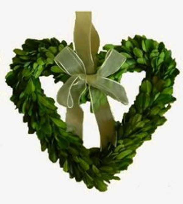 Image of Preserved Boxwood Hearth -- Heart 8""