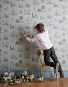 Image of Magnetic Dino Wallpaper - Grey