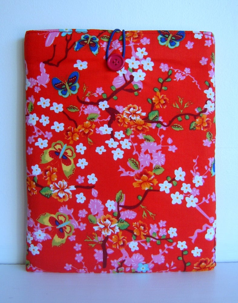 Image of Ipad cover sleeve in pip studio fabric for ipad 1 2 3 4 or ipad air