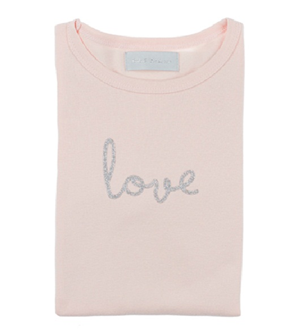 Image of Marshmallow 'Love' Silver Tee