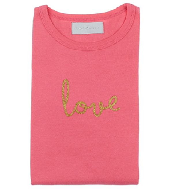 Image of Bubblegum Pink 'Love' Tee
