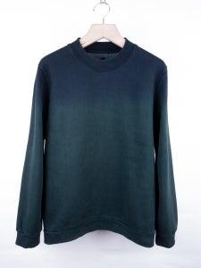 Image of Raf Simons - FW12 Ink Green Gradient Sweatshirt
