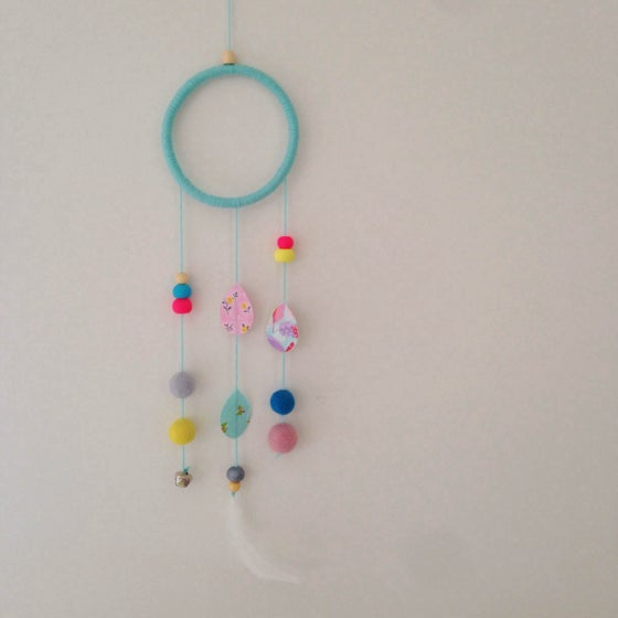 Image of Mint dream catcher wall hanging boy or girl available