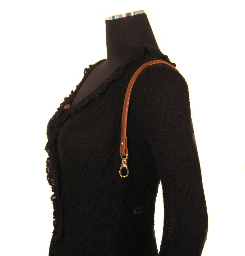 """Image of 20"""" (inch) Leather Handbag Strap - .5"""" Wide - Swivel Hook #13 - Choose Color & Hardware Finish"""