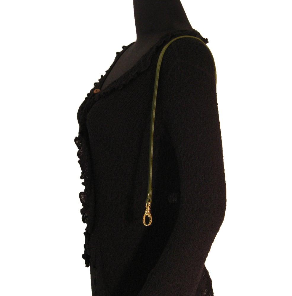 """Image of 30"""" (inch) Leather Handbag Strap - .5"""" Wide - Swivel Hook #13 - Choose Color & Finish"""