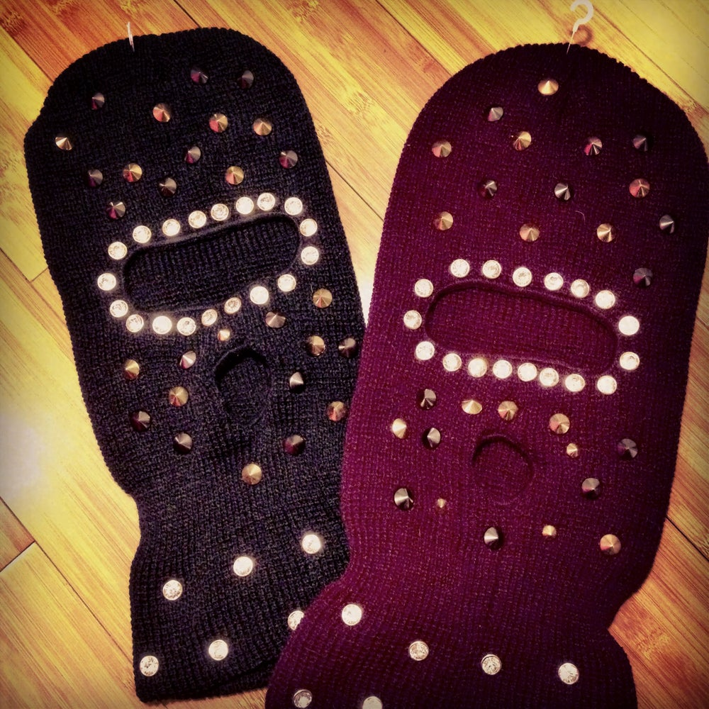 Image of Custom spiked/jeweled Ski Mask