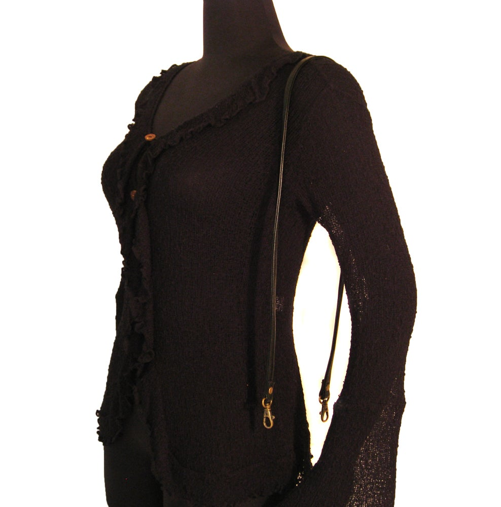 "Image of 40"" (inch) Leather Shoulder Strap - .5"" Wide - Swivel Hook #13 - Choose Leather Color & Finish"