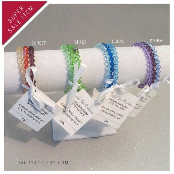 Image of Swarovski Crystal Trio Bracelets - Originally 36.00