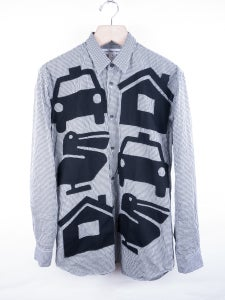 Image of Comme des Garcons Shirt - Patched Front Ginham Check Shirt