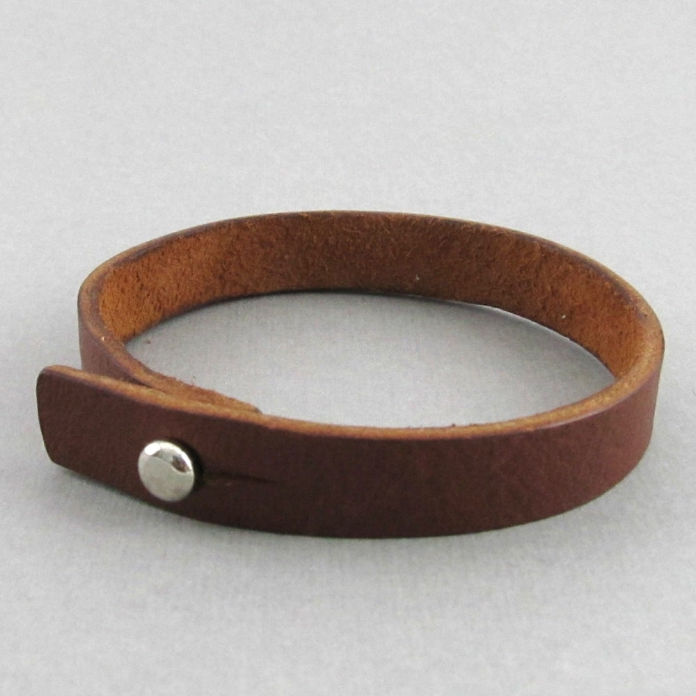 Image of Unisex Brown Leather bracelet