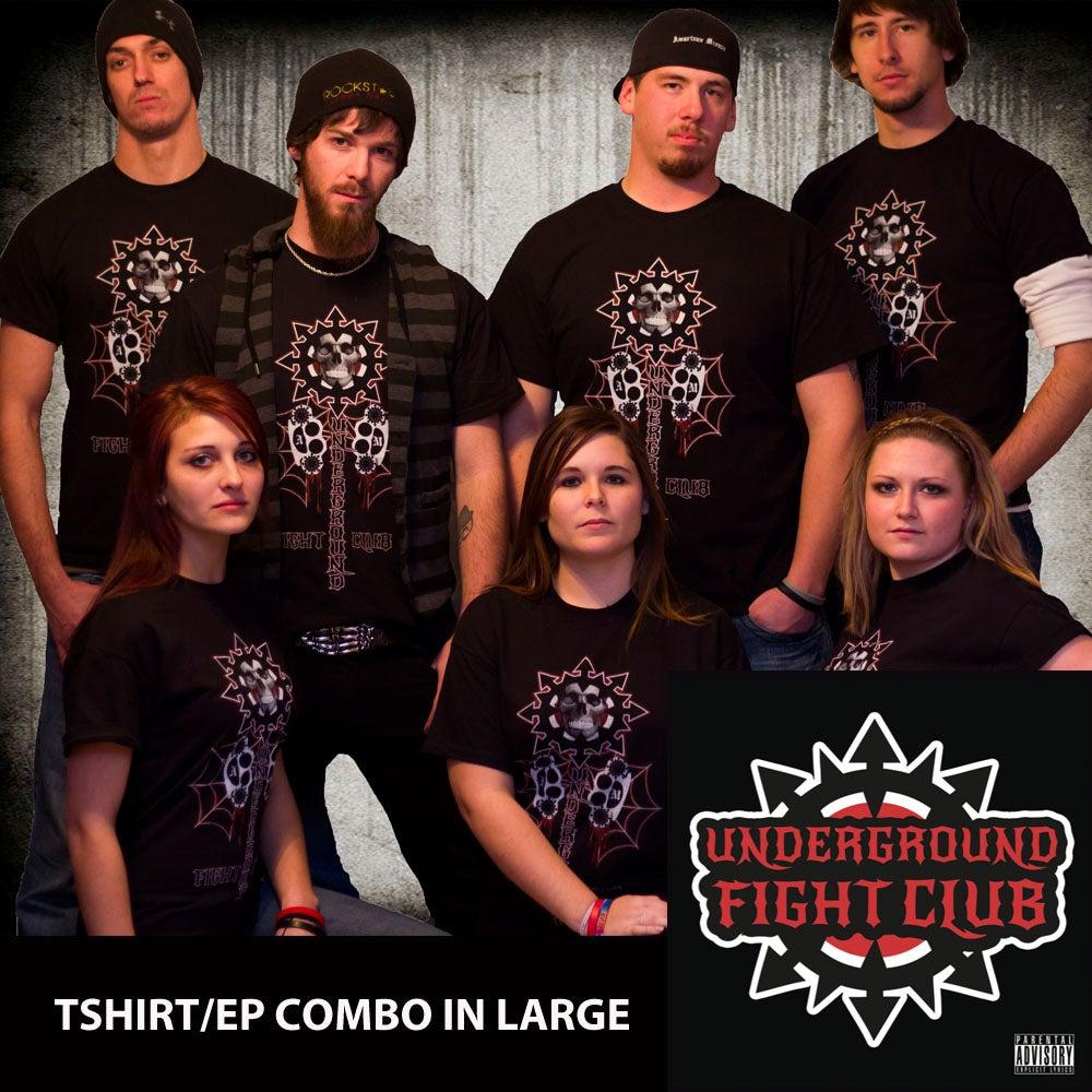 Image of UFC Tshirt and EP COMBO: LARGE